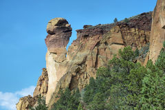 Monkey face, Smith Rock Park. View of Monkey Face from Mesa verde trail, Smith Rock Park, Oregon Stock Image
