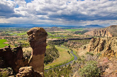 Monkey Face, Smith Rock State Park Stock Photos