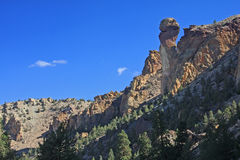 Monkey Face, Smith Rock State Park - Terrebonne, Oregon. Monkey Face is the best-known rock feature of Smith Rock State Park, just east of Terrebonne, Oregon Royalty Free Stock Photos