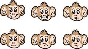 Monkey Faces Royalty Free Stock Photo