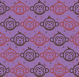 Monkey faces Royalty Free Stock Images