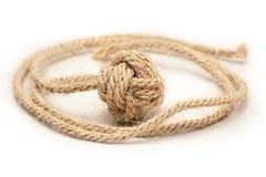 Monkey fist – knot of hemp rope 1 Stock Photos