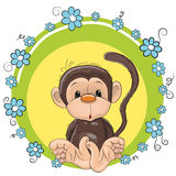 Monkey with flowers Royalty Free Stock Images