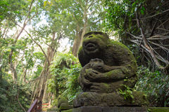 Monkey Forest Scuplture. A scuplture in Monkey Forest Sanctuary in Ubud, Bali,Indonesia Royalty Free Stock Photos