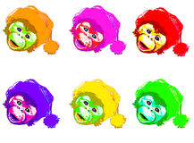 Monkey funny colors Stock Photo