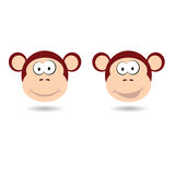 Monkey funny face vector illustration Stock Image
