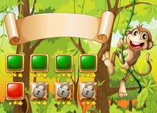 Monkey game design Stock Photos