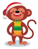 Monkey with gifts New Year Stock Photo