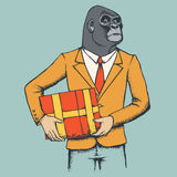 Monkey gorilla vector illustration Royalty Free Stock Photo