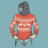 Monkey gorilla vector illustration Stock Photos