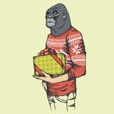 Monkey gorilla vector illustration Stock Images