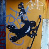 Monkey graffiti Stock Photos