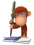 The monkey with the handle Royalty Free Stock Image