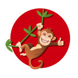 Monkey hanging on the tree Stock Photo