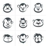 Monkey head icon  Royalty Free Stock Photos