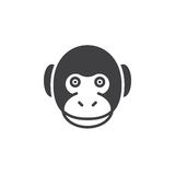 Monkey head icon vector, filled flat sign Stock Image
