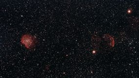 Monkey Head and Jellyfish Nebula. The Monkey Head and Jellyfish Nebula in the constellations Orion and Gemini photographed from Wachenheim in Germany royalty free stock photo