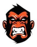 Monkey head mascot vector illustration