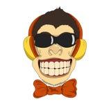 Monkey_headphones Стоковые Изображения