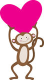Monkey Heart Royalty Free Stock Images