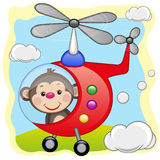 Monkey in helicopter Stock Image