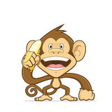 smiling monkey scratching his head stock vector illustration of