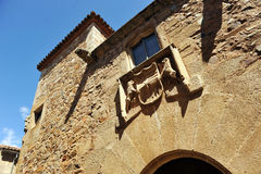 Monkey house, Monumental city of Caceres, Extremadura, Spain Royalty Free Stock Images