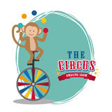 Monkey icon. Circus and Carnival design. Vector graphic Royalty Free Stock Images