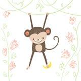 Monkey illustration Stock Image