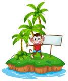 Monkey and island Stock Images