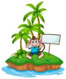 Monkey and island Stock Photo