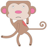 Monkey itch Royalty Free Stock Images