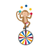 Monkey juggling cartoon Royalty Free Stock Images