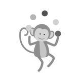 Monkey juggling cartoon Royalty Free Stock Photography