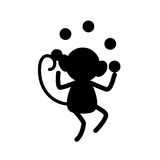 Monkey juggling cartoon Royalty Free Stock Photo