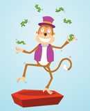 Monkey juggling money Royalty Free Stock Photography