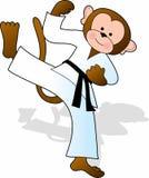 Monkey Karate royalty free illustration