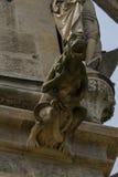 Monkey keeper. St. Barbara`s Church - Monkey keeper . Kutná Hora. Czech Republic Royalty Free Stock Photography