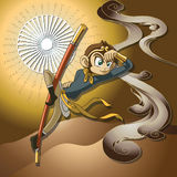 Monkey King. This design was inspired by the Chinese fairy tale Journey to the West. The monkey king and his friends have to escort his master Xuanzang to India Stock Photo