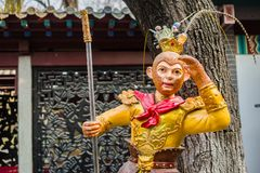 The Monkey King like. The Monkey King statue in the parkn royalty free stock photos