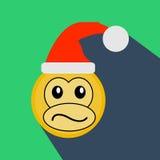 2016, monkey la Feliz Año Nuevo, Feliz Navidad ilustración del vector