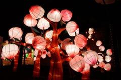 Monkey lantern in the peach trees Stock Image