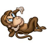 Monkey lazing - Brown Stock Photos
