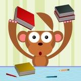 Monkey learns Stock Photo