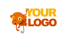 Monkey logo Royalty Free Stock Photo