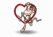 Monkey love Royalty Free Stock Photography