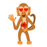 Monkey in love royalty free illustration