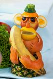 A monkey made of fruits Royalty Free Stock Photography