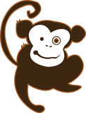 Monkey Madness. A Hyped Up Crazy Monkey. Going To Getcha Stock Photo