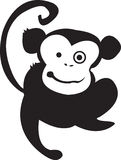 Monkey Madness Black. A Hyped Up Crazy Monkey. Going To Getcha Royalty Free Stock Photos